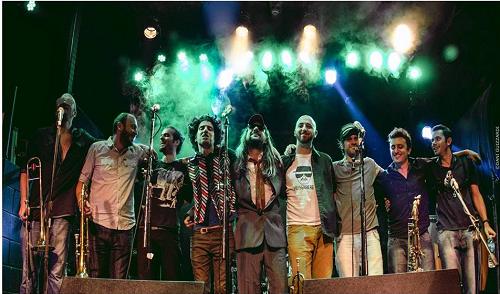 Tapones de Punta en vivo en la fiesta Full Funky